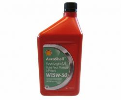 AeroShell Oil W 15W-50 Multigrade Semi-Syn Aircraft Engine Oil - Single Quart
