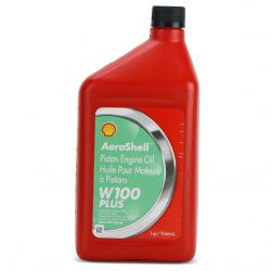 Aeroshell SHAEW+100Q-13 W100 Shell Plus Aviation Oil, 1 quart