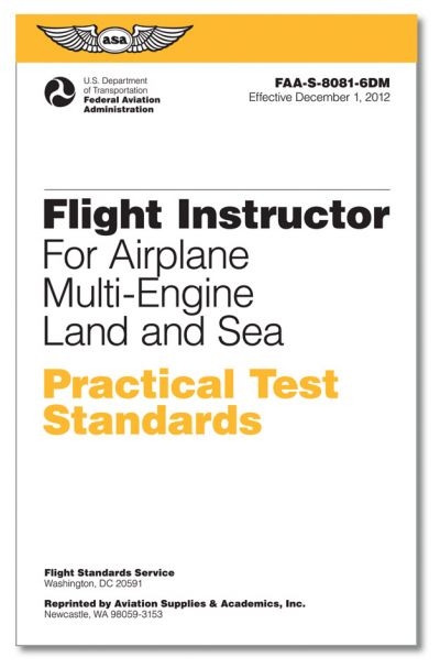 ASA Flight Instructor Practical Test Standards - Multi-Engine