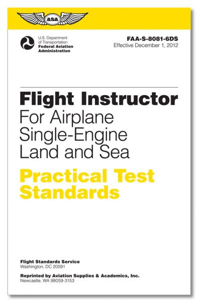 ASA Flight Instructor Practical Test Standards - Single Engine