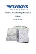 Flyboys Standards Checklist Page Protectors - Package of Ten
