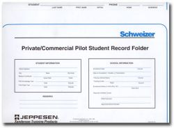 Jeppesen Helicopter Student Record Folder, Single Folder